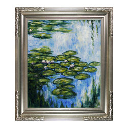 "overstockArt.com - Monet - Water Lilies (Vertical) Oil Painting - 20"" x 24"" Oil Painting On Canvas Easily recognizable, Water Lilies by Claude Monet has been carefully redone to near perfection with color and brush stroke detailing. The Water Lilies painting is actually a series of 250 oil paintings by Monet. They depict Monet's garden in Giverny and were the main subjects of his paintings later in his career. Monet, a French Impressionist, was born in Paris is 1840, and pursued his passion for painting from the start befriending fellow Impressionist artists. The outdoors clearly inspired Monet to take most of his subject matter from nature's beauty. His use of realistic colors and attention to detail still inspire painters today. This beautifully reproduced painting will work in many rooms in your home. Order it today and start your own collection of Monet masterpieces."