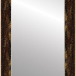 """Roma Moulding - Mirror, Cabane, 4"""", Aged Chocolate Truffle - Age brings with it a subtle beauty. Our Cabane mouldings rustic charm, rich hues and subtle highlights of color are hand applied and distressed by skilled artisans whose careful attention to detail evokes the beauty attained only by time and nature."""