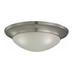 Sea Gull Lighting - 3-Light Ceiling Brushed Nickel - 75436-962 Sea Gull Lighting Nash 3-Light Ceiling Flush Mount with a Brushed Nickel Finish