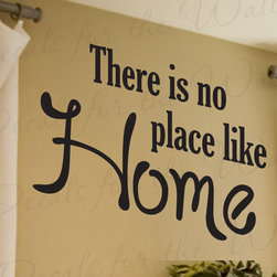 Decals for the Wall - Wall Decal Sticker Quote Vinyl Art Large There's No Place Like Home Entryway H05 - This decal says ''There is no place like home''