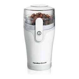 Hamilton Beach - Hamilton Beach - Fresh GrindT Coffee Grinder - Removable grinding chamber. Grinds coffee and spices. Cord storage. Stainless steel blades. On/off button