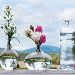 Glass Vase Set - I like the different shapes of these glass vases. They make a striking set when grouped together.