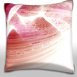Custom Photo Factory - Heat Vortex Background Pillow.  Polyester Velour Throw Pillow - Heat Vortex Background Pillow. 18 Inches x 18  Inches.  Made in Los Angeles, CA, Set includes: One (1) pillow. Pattern: Full color dye sublimation art print. Cover closure: Concealed zipper. Cover materials: 100-percent polyester velour. Fill materials: Non-allergenic 100-percent polyester. Pillow shape: Square. Dimensions: 18.45 inches wide x 18.45 inches long. Care instructions: Machine washable