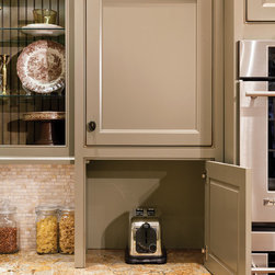 Wall Cabinet with Appliance Door - A great way to keep appliances out of sight but still within reach