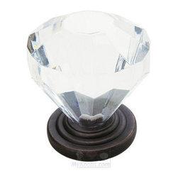 "Amerock - Luminous 1 1/4"" Clear Acrylic Knob in Oil Rubbed Bronze -"