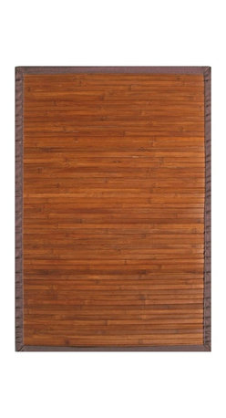 Anji Mountain - Contemporary Chocolate Bamboo Rug - 4' x 6' - Bamboo rugs have been a traditional floor covering in the Far East for centuries. They add a touch of organic, practical elegance to any space. Our bamboo rugs are made of the finest quality, sustainably harvested bamboo in the world for supreme durability. Kiln-dried bamboo is machine-planed and sanded for a smooth finish. This classic collection offers a variety of intriguing designs and brilliant colors to choose from.