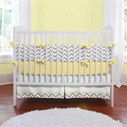 Gray and Yellow Zig Zag Crib Bedding - If simple gray and white is too boring for you, opt for this set which adds in a subtle touch of yellow. I like this as a gender-neutral alternative.