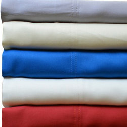 "Grandin Road - Bamboo Rayon Twill Sheet Set - Soft and long-lasting set of bamboo rayon bed sheets and pillowcases. Full, Queen and King sets include one fitted sheet, one flat sheet, and two pillowcases; Twin set includes one fitted sheet, one flat sheet and one pillow case. Moisture-wicking properties make these sheets ideal for year-round use. Made in Turkey from 100% rayon from bamboo. 250 thread count twill weave. Treat yourself to a great night's sleep, every night, with a set of bamboo rayon twill sheets and pillowcases on your bed. Each piece is made from long-lasting bamboo rayon that offers breathable comfort and a softness that mimics silk, all with a soothing twill weave that gets softer with each wash. The natural moisture-wicking properties of rayon from bamboo provide warmth when it's cool and breathability when it's warm, so you can enjoy the softness and comfort in any season.. . . . . All-around elastic edge of fitted sheet fits mattresses up to 18"" deep . Machine washable; see details on care label. Imported."