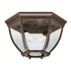 Kichler - Kichler 9886TZ 2 Light Outdoor Ceiling Fixture - Kichler 9886 Outdoor Ceiling Light
