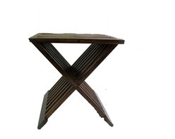 Master Garden Products - Foldable Teak Stool - We offer a full line of  teak shower stools with different designs and sizes to choose from.Teak wood is the only wood that can withstand damp environments making it a perfect addition to your bathroom. Teak wood grain is uniquely smooth and dense, great for bathrooms.