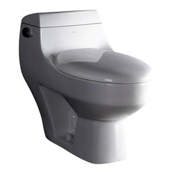 Ariel Platinum - Ariel Platinum TB108M Athena Contemporary One Piece White Toilet 29x15x26 - Ariel cutting-edge designed one-piece toilets with powerful flushing system. It's a beautiful, modern toilet for your contemporary bathroom remodel.