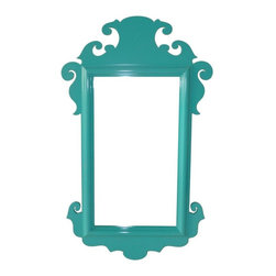 Oomph Charleston Mirror - The energetic color in the Charleston mirror would add a bit of fun to any foyer area.
