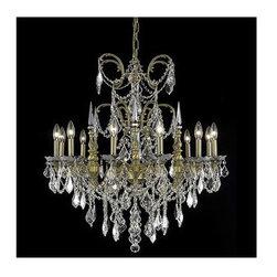 Elegant Lighting - Elegant Lighting 9712D32DB Athena 12 Light 1 Tier Chandelier - Features: