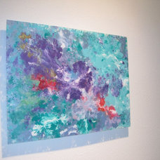 Contemporary Artwork Purple Spark
