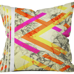 DENY Designs - Pattern State Chevy Rose Throw Pillow - Wanna transform a serious room into a fun, inviting space? Looking to complete a room full of solids with a unique print? Need to add a pop of color to your dull, lackluster space? Accomplish all of the above with one simple, yet powerful home accessory we like to call the DENY throw pillow collection! Custom printed in the USA for every order.