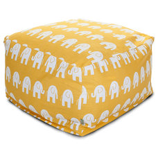 Tropical Ottomans And Cubes by Majestic Home Goods