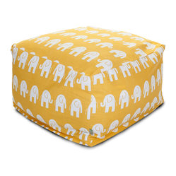 Indoor Yellow Ellie Large Ottoman