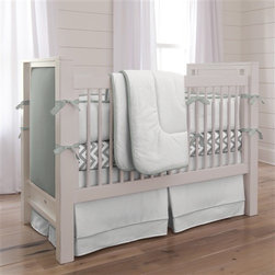 Touch of Color Cloud Gray 3-Piece Crib Bedding Set - I'd absolutely consider gray and white for my own nursery someday. I just love the softness of it, and I think it's super easy to infuse color with this neutral palette. It's a modern and simple aesthetic that is also a classic.