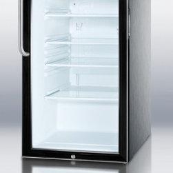 "Summit - SCR500BLCSSADA 20"" 4.1 cu. ft. Capacity ADA Compliant Glass Door Refrigerator Wi - SUMMIT SCR500BLBIADA Series features auto defrost glass door refrigerators designed for built-in use under lower ADA compliant counters"