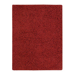 "Nourison - Nourison Zen ZEN01 7'6"" x 9'6"" Red Area Rug 07893 - The shag is back and it's better than ever. With its saturated red shade, eclectic vibe, plush pile and soft sheen, this hip yet cozy rug feels as fabulous as it looks."