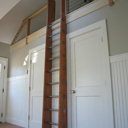 Custom Crafted Loft Ladder, Library Ladder by Historic Flooring - I love Etsy, and I love library ladders!