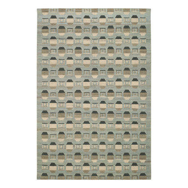 Chesterfield rug in Meadow - A fresh take on an ingrain pattern dating back to the nineteenth century, Chesterfield offers a textural, casual appeal suitable for environments from modern to mission. 100% wool, woven in India.