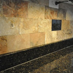 Uba tuba granite goes great with white cabinets traditional charlotte by fireplace - Discount countertops indianapolis ...