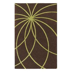 Surya - Surya Forum 2' x 3' Contemporary Rectangle Rug, Dark Chocolate (FM7073-23) - Surya FM7073-23 Forum 2' x 3' Contemporary Rectangle Rug, Dark Chocolate