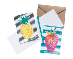 Yellow Owl Workshop - Thank You Fruits Card Set - Printed in San Francisco with veggie-based inks.