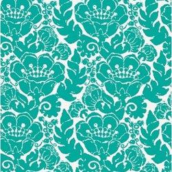 Schumacher - Louis Nui Print Fabric, Ocean - 2 Yard Minimum Order