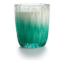 Frontgate - Illume Cactus Green Gallery Glass Candle - 17.2 oz. candle. Burns up to 75 hours. Cactus Verde is a bright blend of cassis, pink sea salt and wild geranium with a hint of avocado. The Gallery Glass Collection was inspired by the ombre seen all over the runway. Geometric facets allow light to dance in the glow of classic modern elegance. Each Gallery Glass candle features a natural wax blend of soy, beeswax, and coconut oil, plus a lead-free wick.  .  .  . Made in the USA.