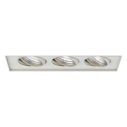 W.A.C. Lighting - W.A.C. Lighting MT-336TL-WT Triple Light Low Voltage Multi Spot Invisible Trim f - Rectangle three light gimbal ring style adjustable recessed fixture, available with trim or Invisible Trim™, designed to sit flush with the ceiling for a clean, architectural look. Housing and trim ordered separately