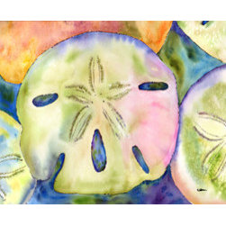 Caroline's Treasures - Sand Dollar Fabric Standard Pillowcase Moisture Wicking Material - Standard White on back with artwork on the front of the pillowcase, 20.5 in w x 30 in. Nice jersy knit Moisture wicking material that wicks the moisture away from the head like a sports fabric (similar to Nike or Under Armour), breathable performance fabric makes for a nice sleeping experience and shows quality.  Wash cold and dry medium.  Fabric even gets softer as you wash it.  No ironing required.