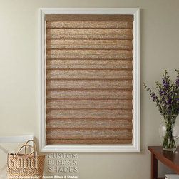 Good Housekeeping - Good Housekeeping Roman Shades: Natural Weave & Woven Stripe - Backed by the Good Housekeeping Seal, these roman shades offer contemporary styling and function with the classic good looks of traditional fabric shades.  These roman shades are available in a variety of configurations, including child safe cordless lift options.