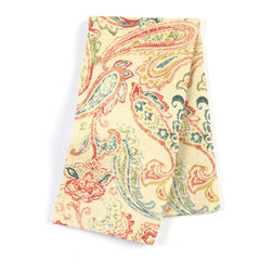 "Red Multicolor Paisley Custom Napkin Set - Our Custom Napkins are sure to round out the perfect table setting""""_whether you're looking to liven up the kitchen or wow your next dinner party. We love it in this classic multicolor paisley linen that plays nice with decor from traditional to eclectic."