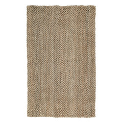 "Kaleen - Kaleen Essential Herringbone (Natural) 8' x 10' Rug - Essentials is a collection of classic and all natural Jute hand loomed designs. Jute has been a ""Green"" product for eons before the movement became the main stream darling. Kaleen has captured the true fashion essences of this beautiful product. The Essentials Collection is Hand loomed in India of only the finest 100% hand processed Jute."