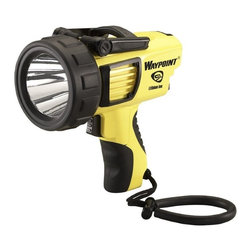 """Streamlight - Streamlight Waypoint C4 Rechargeable LED Light Multicolor - 744900 - Shop for Flashlights from Hayneedle.com! Just aim and shoot. The Streamlight Waypoint C4 Rechargeable LED Light is a powerful canon that casts a a 210 lumen beam on its highest of many intensity outputs. This beautifully designed yellow and black device is impervious to shock and has a 50 000 hour lifetime. For long-range targeting there's no other flashlight more dependable and comfortable to hold than the Waypoint. Additional Features Power Source: RechargeableBattery Bulb Type: LED Lumens: 210 Dimensions: 8L x 8W x 4H inches Weight: 1.8 lbs. Takes 4 """"C"""" batteries"""