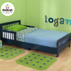 KidKraft - Slatted Toddler Bed in Blueberry - Slatted Toddler Bed in Blueberry