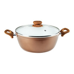 None - Alpine Heavy-Gauge Aluminum 9-quart Ceramic Induction Dutch Oven - Discover epicurean ecstasy when you cook with this luxurious dutch oven. Featuring a white ceramic non-stick interior and a secure cool-touch handle,this cookware is easy to clean and will be a staple in your kitchen collection for years to come.