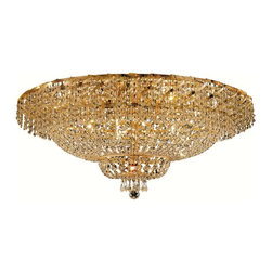 Elegant Lighting - Elegant Lighting ECA2F36 Belenus 28 Lights Flush Mount - Featuring a graceful multi-tiered design and a cascading crystal body, these brilliant Belenus chandeliers bring decorative drama to any room setting.