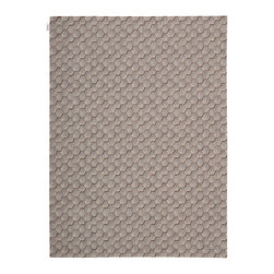 """Calvin Klein Home - Calvin Klein Home CK11 Loom Select LS16 5'6"""" x 7'5"""" Smoke Area Rug 04456 - A graphic interlocking of honeycomb shapes in walnut hues and grey accents. The high and low pile creates a three dimensional effect adding light play through the rug."""