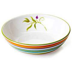 Clay Art Dinnerware, Floral Stripe Serving Bowl - CLEARANCE - for the home - Mac