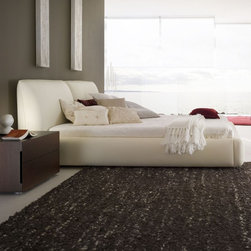 Rossetto - Pavo Beige Platform Bed by Rossetto USA - Features: