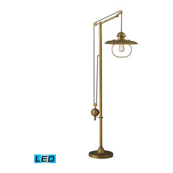 Dimond Lighting - Dimond Lighting Farmhouse Antique Brass Floor Lamp - LED Offering Up To 800 Lume - Antique Brass Floor Lamp - LED Offering Up To 800 Lumens belongs to Farmhouse Collection by Dimond Lighting Lamp (1)