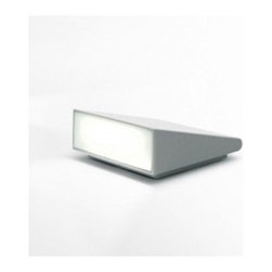Artemide - Artemide   Cuneo Outdoor Light - Design by Klaus Begasse.By Artemide.The Cuneo Outdoor Light is composed of an aluminum body available in grey white or rust finishes. Can be installed on the floor or wall. In wall installations, the fixture can be mounted upward or downward. Wall installation by means of a bracket in folded steel sheet with the fixture is fastened with two screws. Electronic driver integrated into the body. Cuneo's flat ship and elliptical light emission make the fixture suitable for floors or spacious areas in gardens to provide side lighting.UL Listed.