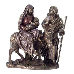 TLT - 9.5 Inch Cold Cast Bronze Mary and Joseph with Baby Jesus Statue - This gorgeous 9.5 Inch Cold Cast Bronze Mary and Joseph with Baby Jesus Statue has the finest details and highest quality you will find anywhere! 9.5 Inch Cold Cast Bronze Mary and Joseph with Baby Jesus Statue is truly remarkable.