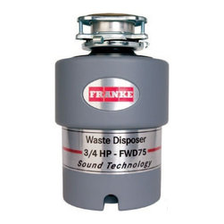 Franke - Franke FWD75 3/4 HP Continuous Feed Waste Disposer with 2700 RPM Magnet Motor - 3/4 HP Continuous Feed Waste Disposer with 2700 RPM Magnet Motor, Jam Resistant and 10 Year Warranty