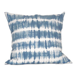 None - Waverly Pillow 20-inch Down Throw Pillow - Dress up your decor with this down filled decorative pillow. This soft pillow features a legion blue and cream pattern.