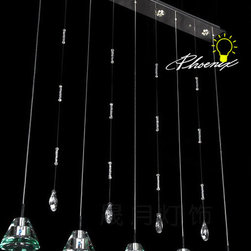 Modern Crystal LED Pendant Lighting - Modern Crystal LED Pendant Lighting in Chrome Finish