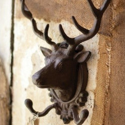 Elk Coat Rack - Small details like this deer head key holder give your lodge a rustic but sophisticated touch.